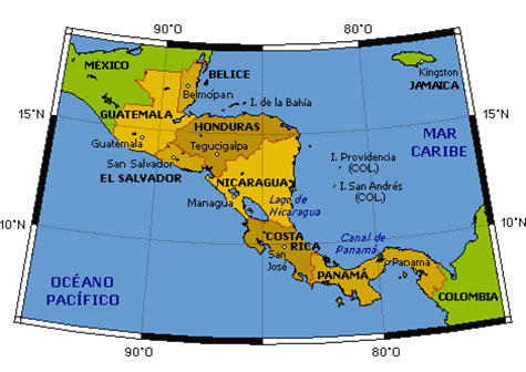 Límites geográficos de América Central