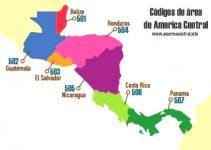 Códigos de área de Centroamérica