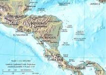 Mapa de relieve de América Central