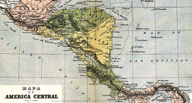 mapa fisico centroamerica