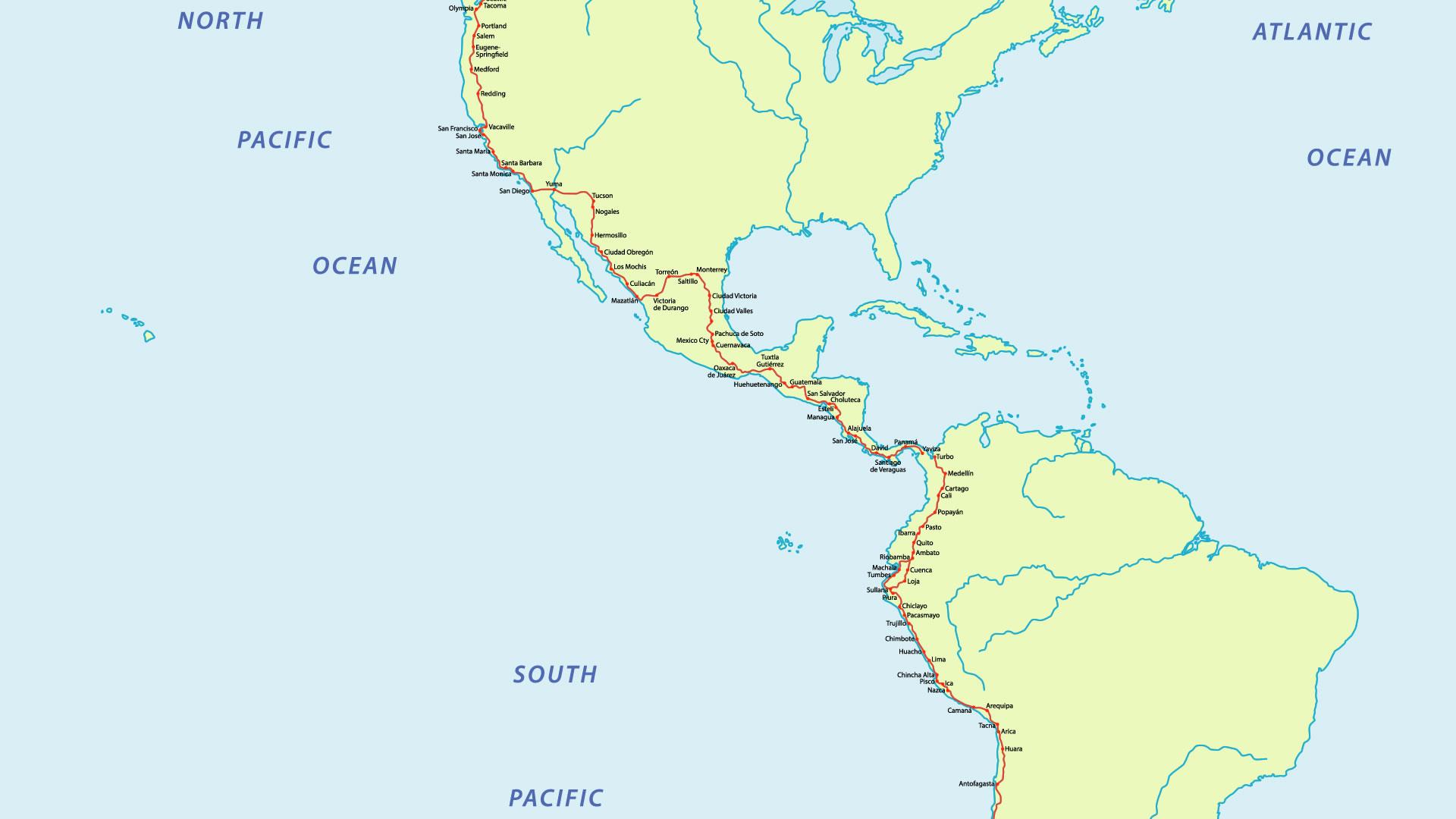 carreteras de centroamérica