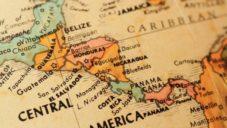 mapa topográfico de centroamérica