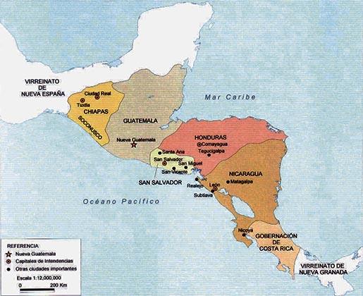 países en centroamérica que se unieron a méxico en 1822